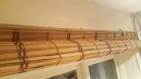 Brown Bamboo Roller Blind