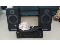 ***SONY STR-DH100 A/V RECEIVER & WHARFEDALE S500 SPEAKERS***
