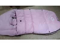 bugaboo universal footmuff soft pinc in excellent condition