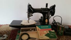 """Singer Featherweight 222K Red """"S"""" Sewing Machine"""