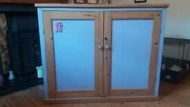Solid Wooden Cupboard with two doors