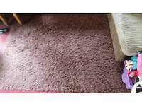 Brown shaggy rug long pile