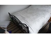 Black double metel bed frame no mattress good condition £50 ono