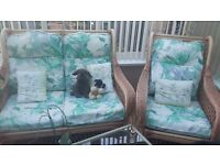 Conservatory 3 piece sofa and matching table