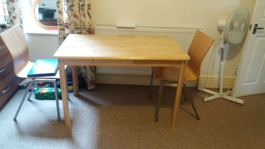 Malaysia Pine Wood Made Dining Table A Nd Chairs Plus 2 Free