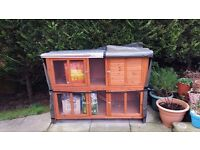 Nearly New Rabbit And Guinea Pig Hutch And Cover (Used For A Month)