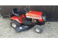 Ride on lawnmower - mulching mower.