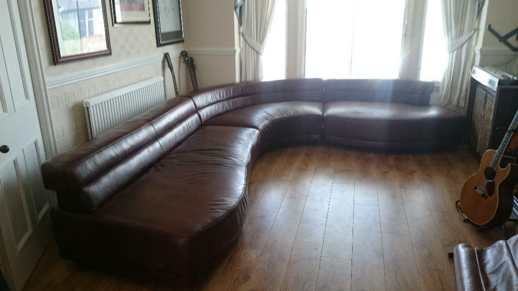 Large Brown Leather Corner Suite In New Moston Manchester Gumtree