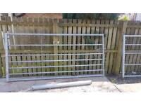 2 galvanised heavy duty farm/industrial gates