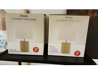 2 X Brand new Table Lamps
