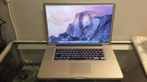 Used 17 Macbook Pro 2011 with Intel Quad Core Processor Core i7, Webcam and Wireless for Sale