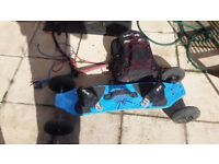 6 meter power kite 'cirrus ' with landboard and kite bar