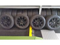 VW Genuine 15 alloy wheels + 4 x tyres 195 65 15 Michelin