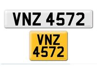 VNZ 4571 and 4572 two next to private Cherished personal personalised registration plate numberY
