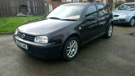 Volkswagen golf offers 2002 mot black 4 door history