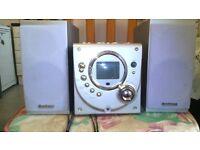 1 goodmans cd player with radio and 1 alba cd player and radio