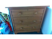 Two Antique Pine Cheast of Drawers
