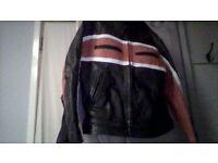 selling leather biker jacket .