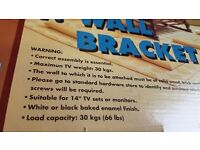 TV (CRT)wall bracket brand new and boxed 30kg max load