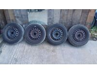 """NISAN MICRA 14"""" WHEELS AND TYRES"""