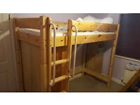 Excellent condition highsleeper with wardrobe.