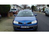 Blue Renault Megane - Hatchback/Diesel. Good condition. Low tax(£30). MOT'd until September.