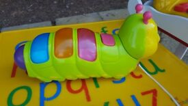 Caterpillar musical toy