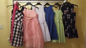 6 x GIRLS DRESSES AGE 6 YEARS AND 7 YEARS NEXT TU GEOEGE
