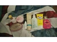 Skin products and perfume bundle