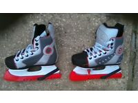 Junior ice skating boots , adjustable sizing