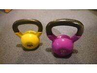 6 kg and 8 kg kettle bells