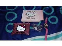 Hello kitty watch, purse and necklace set new
