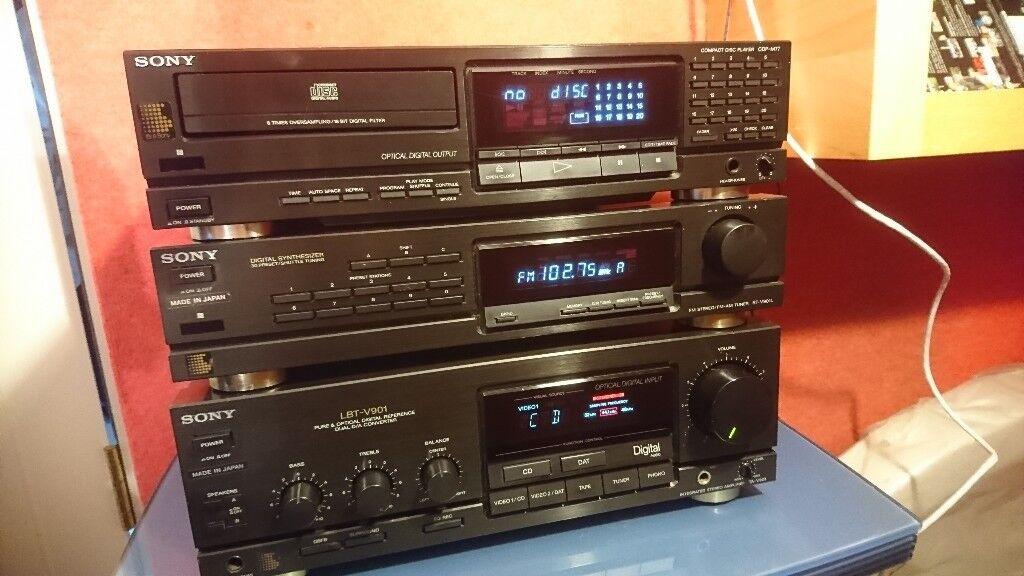 Sony Lbt V901 Stereo Stack System Amp Tuner Cd Amp Foc