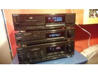 SONY LBT-V901 STEREO STACK SYSTEM, AMP,TUNER,CD, & FOC RECORD & CDP M305 PLAYER
