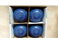 Taylor Ace Size 5H Coloured Bowls. Stamped 25WB. In Excellent Condition.
