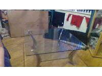large clear glass coffee table