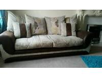 3 seater couches, settee, scatter cushions