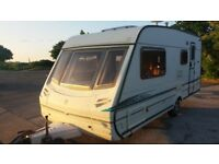 Abbey Adventura 416 GTS 4 berth 2003 with motor mover and porch awning