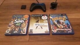Playstation 2 Controller with Games & Acc