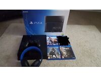 Ps4 with sony headset & 3 games