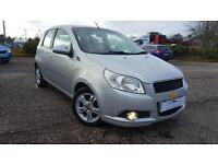 CHEVROLET AVEO 1.4 LT 5dr 1 Yr's Mot & Fully Serviced +Warranty (silver) 2009