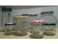 40 cristal jars
