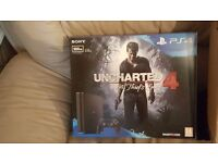 PS4 brand new 500gb in box unopened with uncharted 4 game