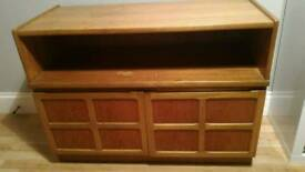 2 x solid wood matching sideboards