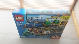 Lego city blue train