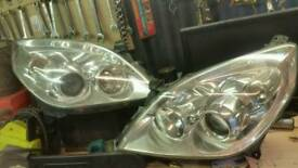 Vectra c front face lift head lights
