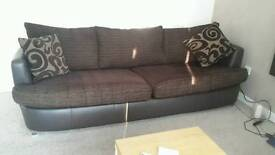 4 seater sofa & large swivel chair - excellent condition