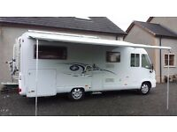 2006 Fiat Ducato Dethleffs I6611 4 Berth. Luxury A-Class with fixed twin single beds and a double.