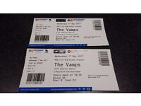 THE VAMPS NOTTINGHAM A PAIR OF VIP PHOTO OP TICKETS SEATS