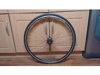 Mavic open pro 700c rear singlespeed wheel with tyre